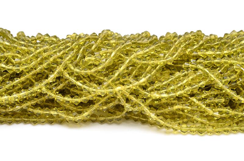 Glaspärlor Bicones 5mm Oliv ca 70st