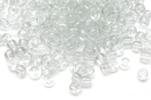 Seed beads 6/0, 4mm, Transparent ofärgad