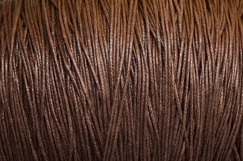Vaxad Bomullstråd Mörkbrun