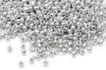 Seed beads 8/0, 3mm, Metallic silver