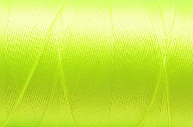 Tvinnad nylontråd 0,6mm Neongul