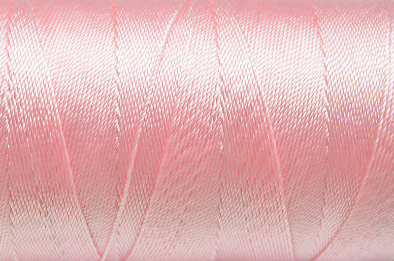 Tvinnad nylontråd 0,6mm Rosa