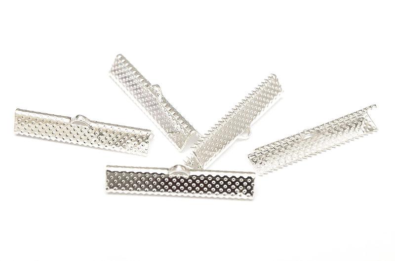 Silverpläterade Bandklämmor 35mm