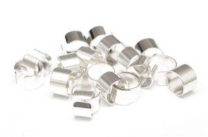 Silverpläterade Ear Cuff 6mm utan hål 20st