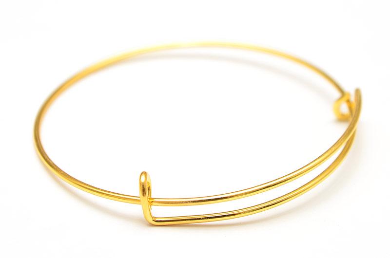 Guldpläterad armbandsstomme justerbar 65mm