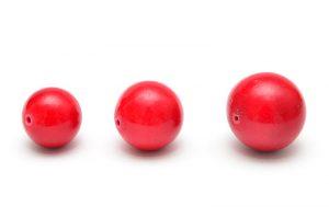 Stenpärla Röd, välj storlek 15~20mm