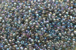 Trans-Rainbow Black Diamond, TOHO seed beads 8/0 (3,1mm) 10g