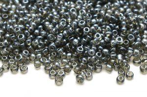 Seed beads 11/0, 2mm, Transparent Grå luster
