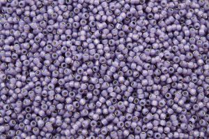 Silver-Lined Milky Lavender, TOHO seed beads 8/0 (3,1mm) 10g