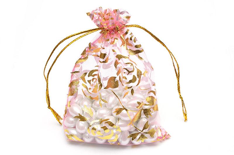 Presentpåse Ljusrosa med guld