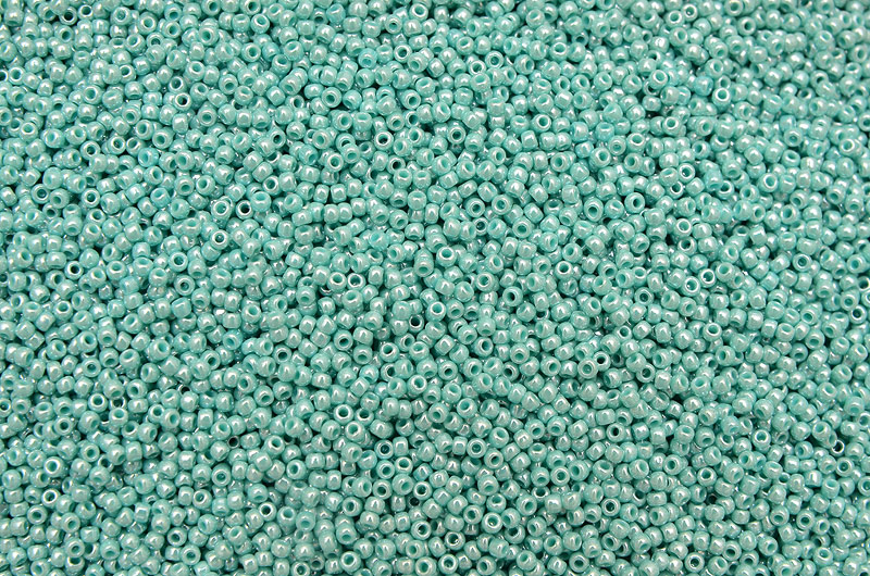 Opaque Lustered Turquoise, TOHO seed beads 11/0 (2,2mm) 10g