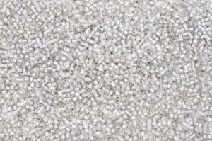 Silver-Lined Frosted Crystal, TOHO seed beads 11/0 (2,2mm) 10g