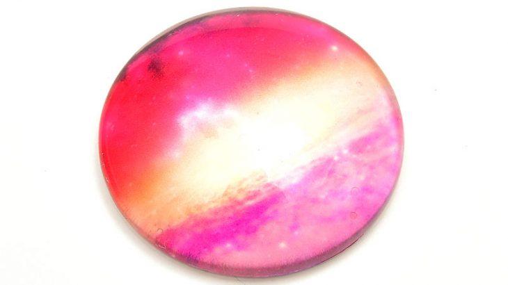 Glascabochon Galaxy Rosa 25mm
