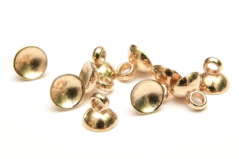 Ljus guld fästöglor Akryl 6mm