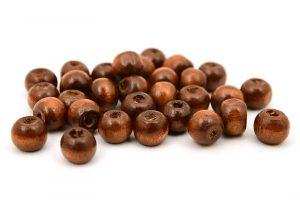 Träpärlor Brun 7mm
