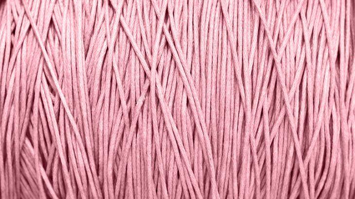 Vaxad bomullstråd Ljusrosa