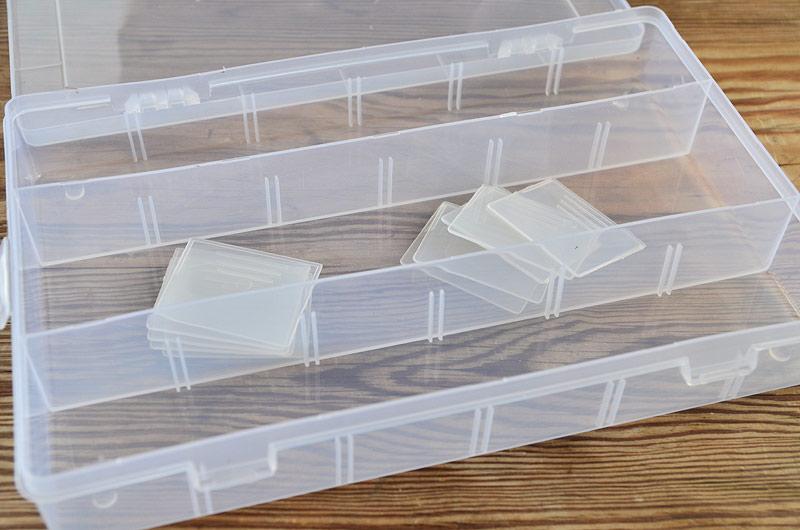 Bra Pärlförvaring, låda med 3-13 fack. 27x18cm - FROSTnollåtta LW-85