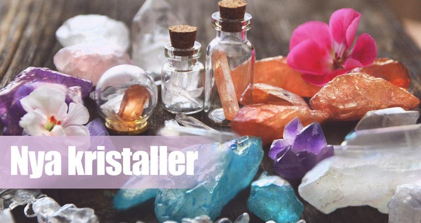 Bergskristaller i många olika färger