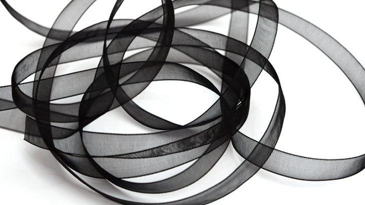organzaband svart 10mm