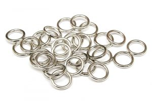 Metallringar Antiksilver, 7mm