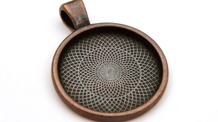 Antik koppar stomme 25mm