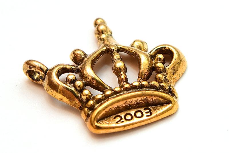 Guldpläterad prinsesskrona berlock