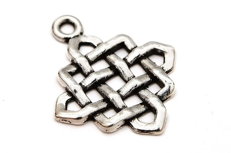 Antiksilver berlock Keltisk knut