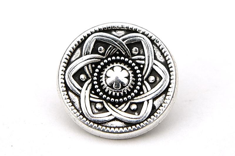 Metallknapp keltisk knut