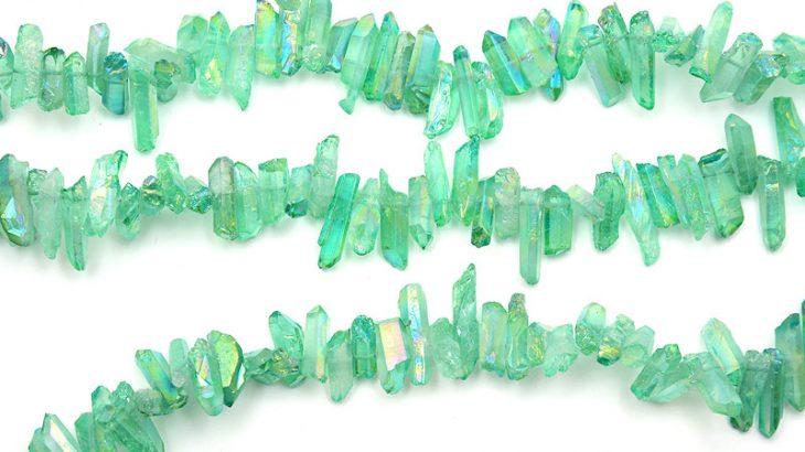 Bergskristallspets med AB skimmer Mintgrön