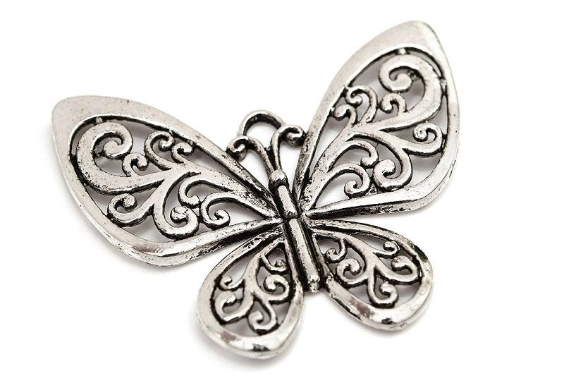 Stor antiksilver berlock, Fjäril med swirls