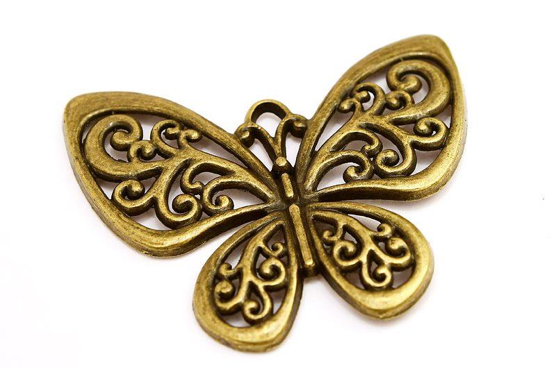Stor vintage berlock, Fjäril med swirls