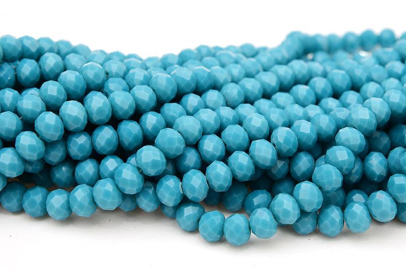 Fasetterade rondeller 8x6mm Opak Montana blå