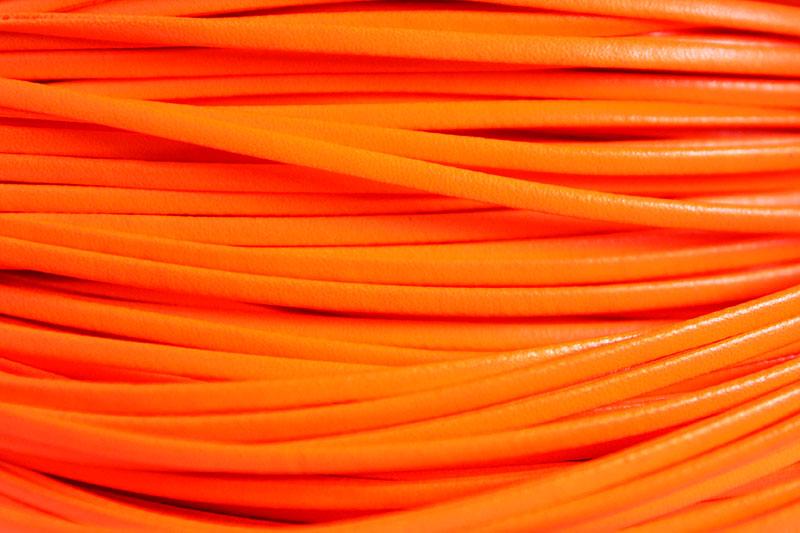 Läderimitation band, Orange, 4x2mm
