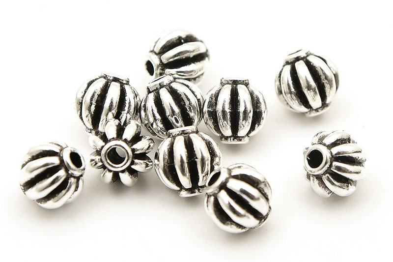 Antiksilver metallpärlor Pumpor (tungviktare), 10st