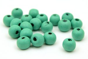 Träpärlor Blågrön 8mm