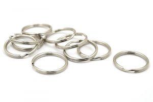 Nyckelringar, 10st Antiksilver, 20mm
