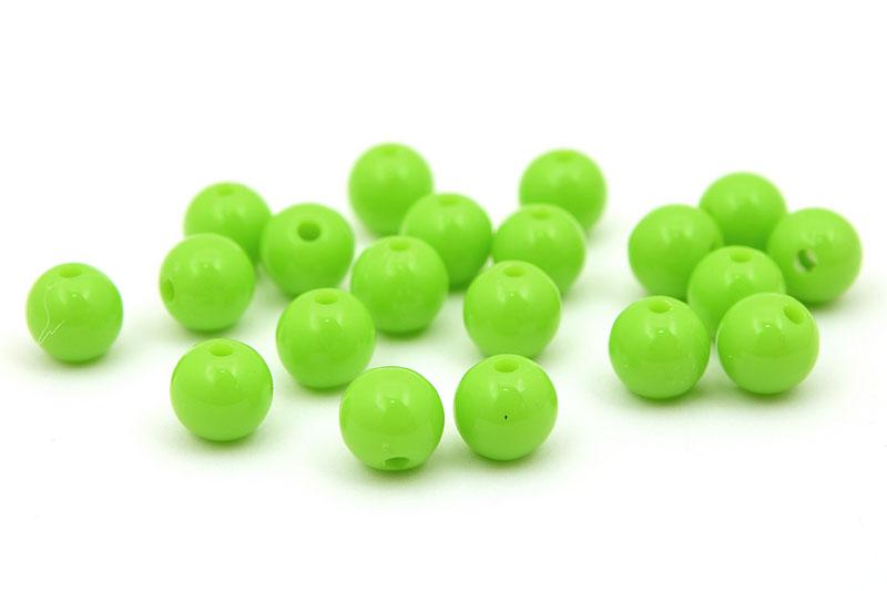 Skarvfria akrylpärlor 7mm Ljusgrön, 20st