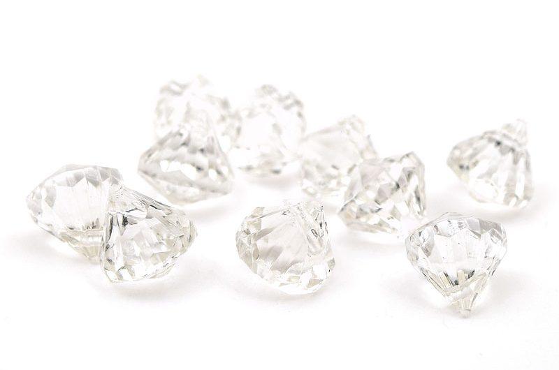 Klara akrylhängen Diamanter 10st