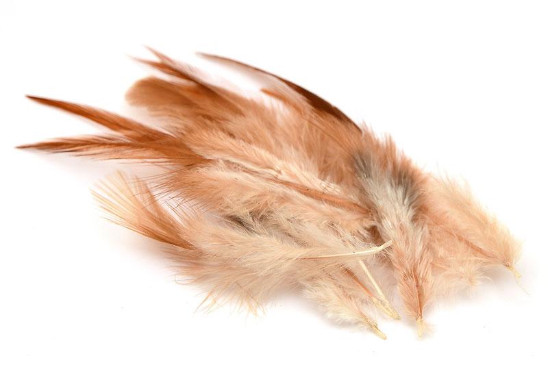 Naturliga fjädrar Beige ca 10st