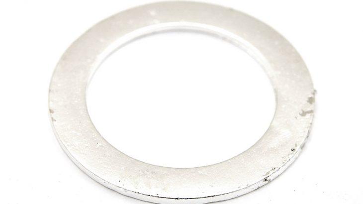 Stansbar metallring, Silverpläterad, 43mm