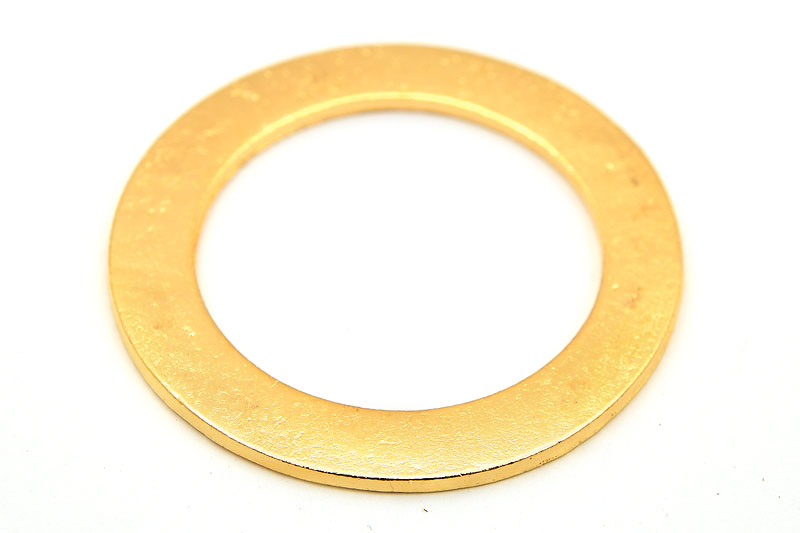 Stansbar metallring, Guldpläterad, 43mm