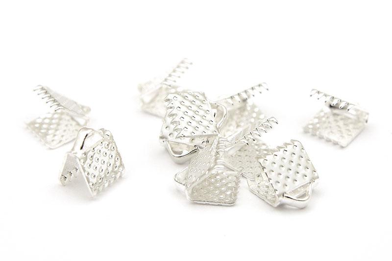Silverpläterade bandklämmor 6mm