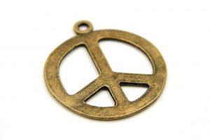 Vintage peacemärke, berlock 21mm