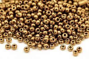 Seed beads 8/0, 3mm, Bronze