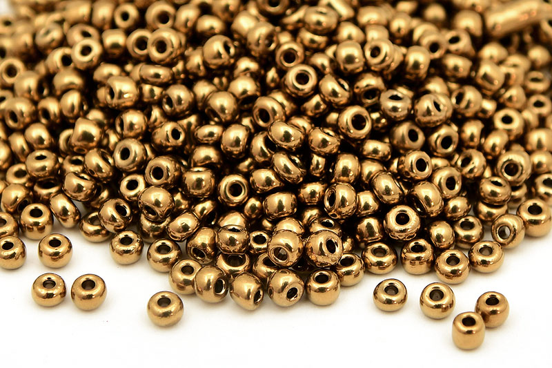 Seed beads 8/0, 3mm, Bronze
