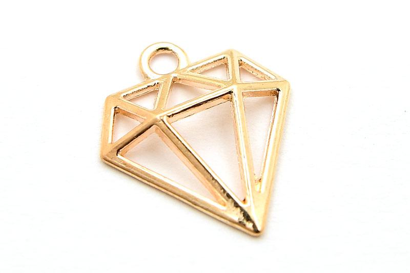 Guldpläterad berlock, Diamant