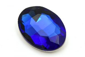 Cabochon Oval, Blå 25x18mm, Glas