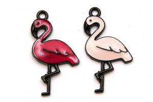 Svart berlock, Rosa flamingo (välj färg)
