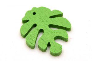 Träberlock, grönt monstera blad