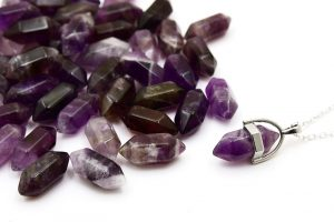 Slipad kristallspets, Ametist, 20cm